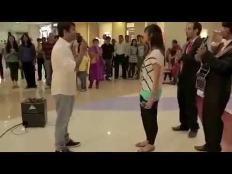 Indian Girl Hits Man Proposing to her with Ukulele VIDEO