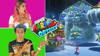 DEFEAT EASILY THE SAND KINGDOM BOSS | SUPER MARIO ODISSEY GAMEPLAY