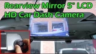 "EHOOM Car Rearview Mirror 1080P HD Dashcam 5"" Touchscreen"
