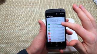 HTC One (M8) How to use DATA USAGE Screen & see what is using your Data & Save your Data