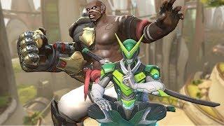 Genji and Doomfist Play Overwatch Together