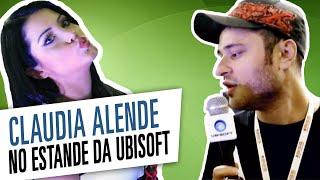 Claudia Alende no estande da Ubisoft na BGS 2014