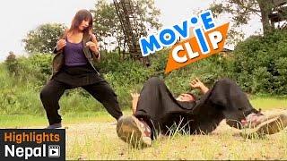 Lady Fighter | महिला योद्दा | Nepali Movie KHURPA Video Clips Ft. Sabin Shrestha, Sushma Adhikari