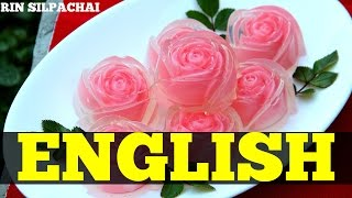 How to make Thai Rose Jelly for Valentine