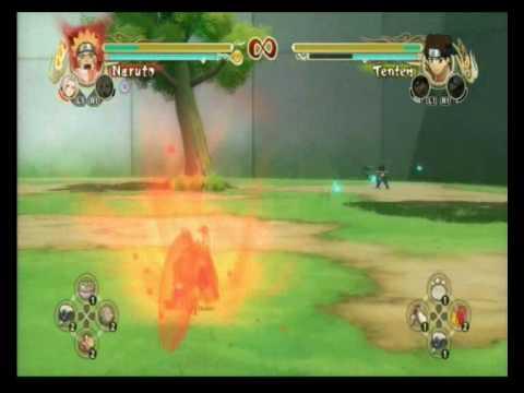 NUNS Kyuubi Naruto vs Tenten