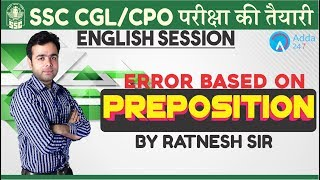 SSC CGL/CPO    Errors Based On Preposition   English   Ratnesh Sir