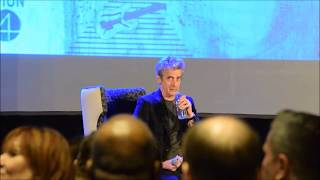 Doctor Who - Peter Capaldi Hilariously Chokes On Water