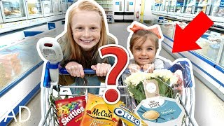 KiDS GROCERY SHOPPiNG CHALLENGE 🌭🍕🍞😱