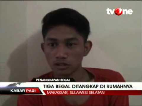 berita hari ini , Kapokmu Kapan, Tiga Begal Sadis di Makassar Dibekuk Polisi  , Dunia Dalam Berita