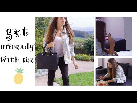 🍍 Get unready with me | after school