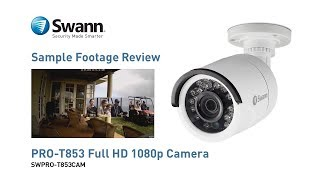 Swann PRO-T853 1080p Full HD Security Camera - Sample CCTV Footage Video Review