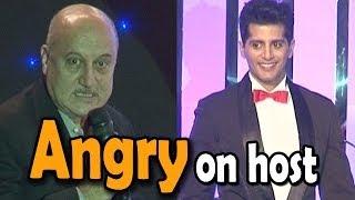 Anupam Kher looses his calm with Karanvir Bohra