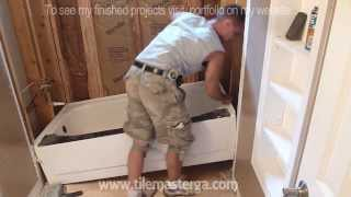 How to easly & safely remove old Tub, disconnect bath waste - drain.  Step By Step