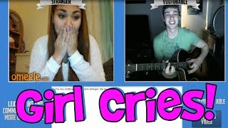 Girl Cries On Omegle (Funny Fan Reaction)