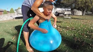 FITTING INSIDE A GIANT WATER BALLOON!!