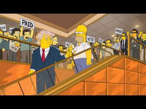 Donald Trump Sera El Presidente de Estados Unidos?? Los Simpson predicciones