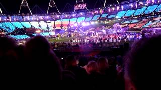 coldplay  strawberry swing  paralympic closing ceremony london 2012