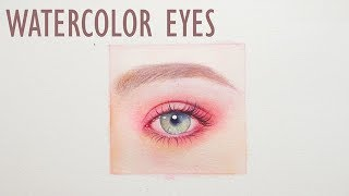 Eye Watercolor Painting Tutorial - Speed Painting
