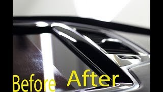 How to Remove Polish Scratches Screens Display Navigation MMI Car Interior Volvo XC90 PROcleaNS