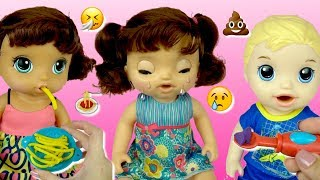 Baby Alive Doll That Really Cries! Eats and Poops! - Playing with Baby Dolls