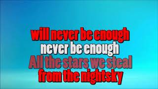 NEVER ENOUGH - KARAOKE - LOWER KEY (-3)