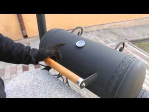 Гриль из газового баллона своими руками видео