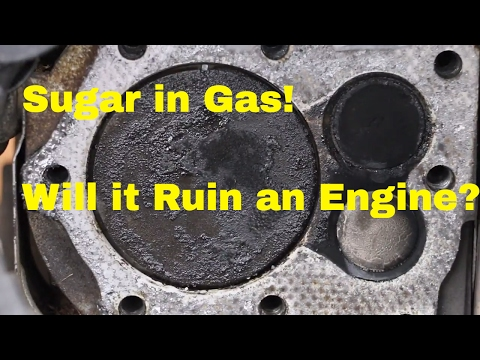 Will Sugar in Gas Destroy a Vehicles Engine See what it does to this Engine