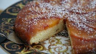 Upside Down Peach Cake Recipe - Heghineh Cooking Show