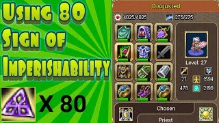 Warspear Online: Using 80 Sign's of Imperishability