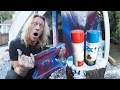 Download Video Download HUGE MISTAKE! Anvil Dropped on a Spray Paint Can! 3GP MP4 FLV