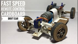 The Fast Speed RC Drift Car Homemade Remote Control Truck from Cardboard and PVC Trunking.