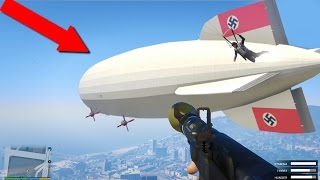 Blowing Up The Mega Blimp!!! Biggest Explosion In The Game! (GTA 5)