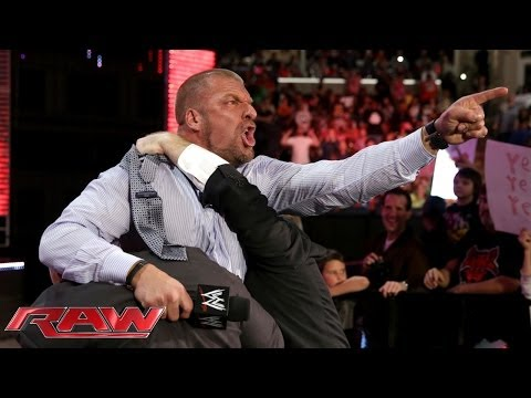 Triple H agrees to face Daniel Bryan at WrestleMania 30 Raw March 10 2014