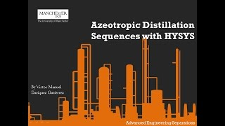 Azeotropic Distillation Sequences with HYSYS