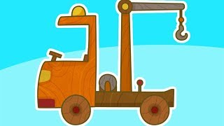 Car Toons tow truck. Car cartoons & trucks cartoons for children. Learn vehicles. Tow truck cartoon