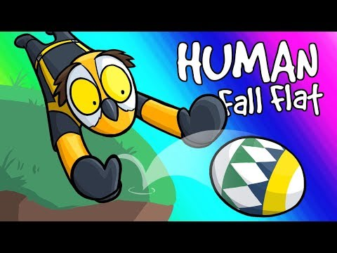 Human Fall Flat Funny Moments Easter Eggs and Boulders