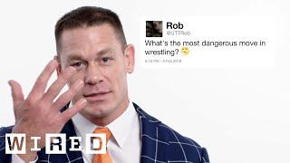 John Cena Answers Wrestling Questions From Twitter | Tech Support | WIRED
