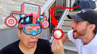 EXTREME DUNK TANK CHALLENGE!!! (FIRST TO SMASH THE TARGET WINS)
