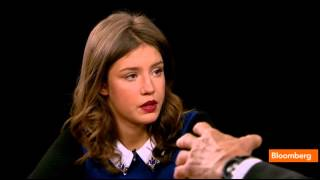 Adèle Exarchopoulos in The Charlie Rose Show on PBS 12.11.2013
