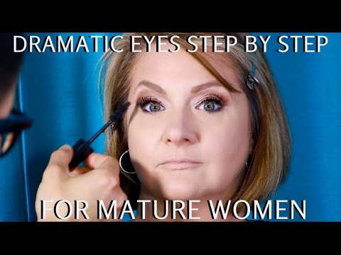 Dramatic Eyes for Mature Women Over 40 Step by Step Makeup Tutorial mathias4makeup