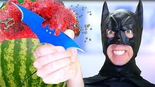 5 Batman Weapons vs Fruit Ninja