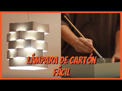 Cómo hacer una lámpara de cartón manualidades de cartón iMujer Hogar