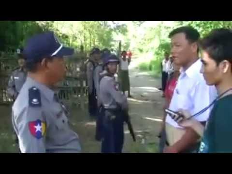 Ko Nay Myo Zin solve problem with Police peacefully .