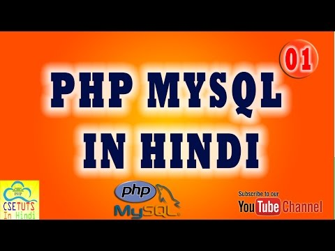 [Hindi] PHP MYSQL in Hindi LESSON 1 : Inroduction and Working of PHP
