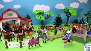 Playmobil Horse Washing Station and Pony Barn Playset - Buid and Play Fun Toys For Kids