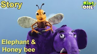 Elephant and Honey Bee Story | Panchatantra Stories for Kids | 3D Animated English Stories - KidsOne