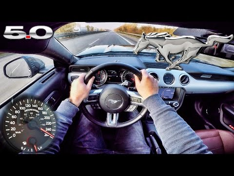 Ford Mustang GT 5.0 ACCELERATION & TOP SPEED POV Autobahn Test Drive by AutoTopNL