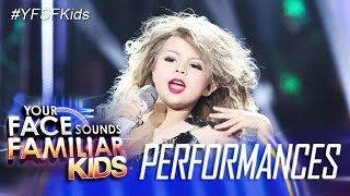 Download Your Face Sounds Familiar Kids: Xia Vigor as Taylor Swift - You Belong With Me 3Gp Mp4