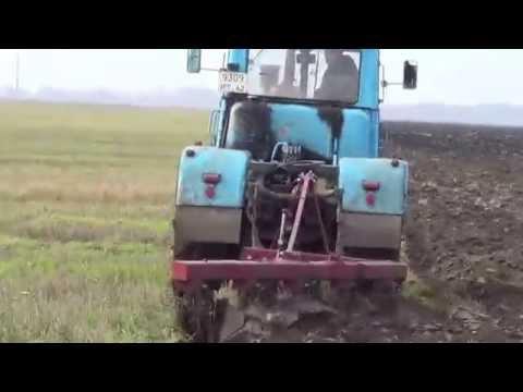 Xxx Mp4 Скоростная вспашка тракторами Т 150К с плугом ПЛН 5 35 High Speed Plowing Tractor T 150K With Plough 3gp Sex