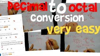 Decimal to octal conversion| | very easy